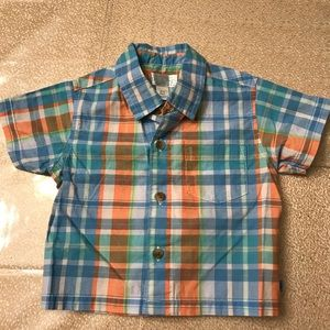Children's Place Boys Plaid Button Down 6-9mo